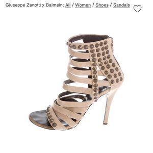BNWOB Giuseppe Zanotti x Balmain strappy sandals.